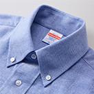 オックスフォードボタンダウンロングスリーブシャツ(1269-01)襟