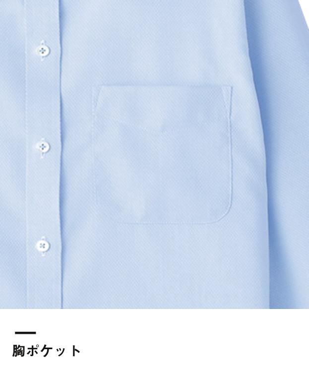 吸汗速乾長袖ブラウス(FB4012L)胸ポケット