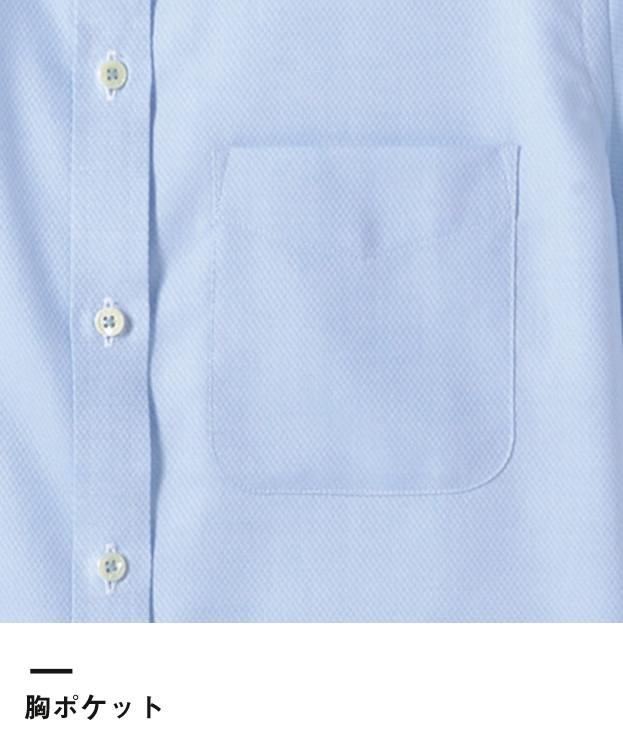 吸汗速乾半袖ブラウス(FB4014L)胸ポケット