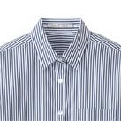 レディスストライプ調温長袖ブラウス(FB4023L)襟