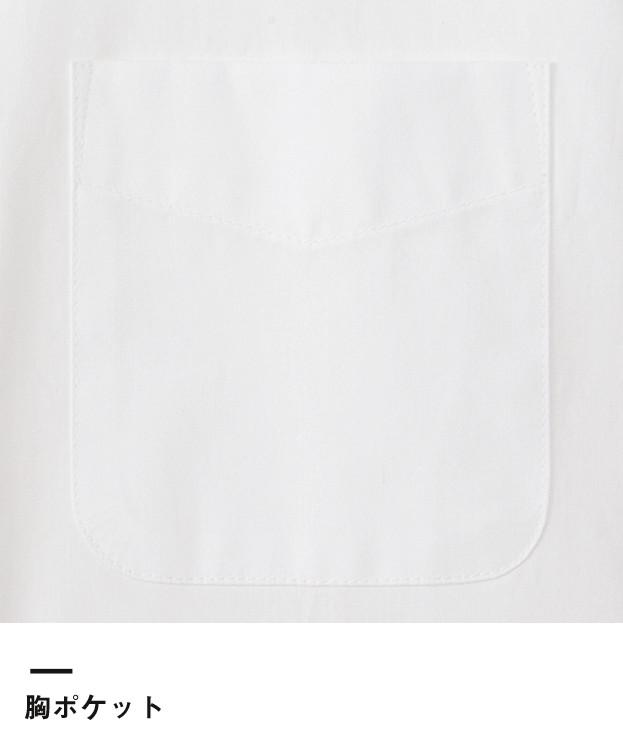 レディスウイングカラー長袖ブラウス(FB4025L)胸ポケット