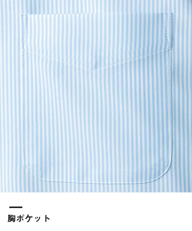 吸水速乾レディス半袖ブラウス(FB4031L)胸ポケット
