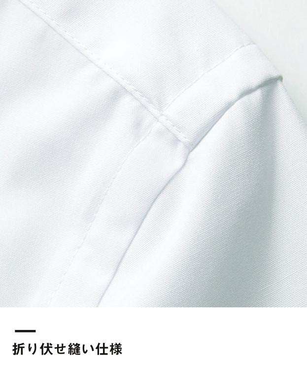 レディスストレッチ長袖ブラウス(FB4032L)折り伏せ縫い仕様