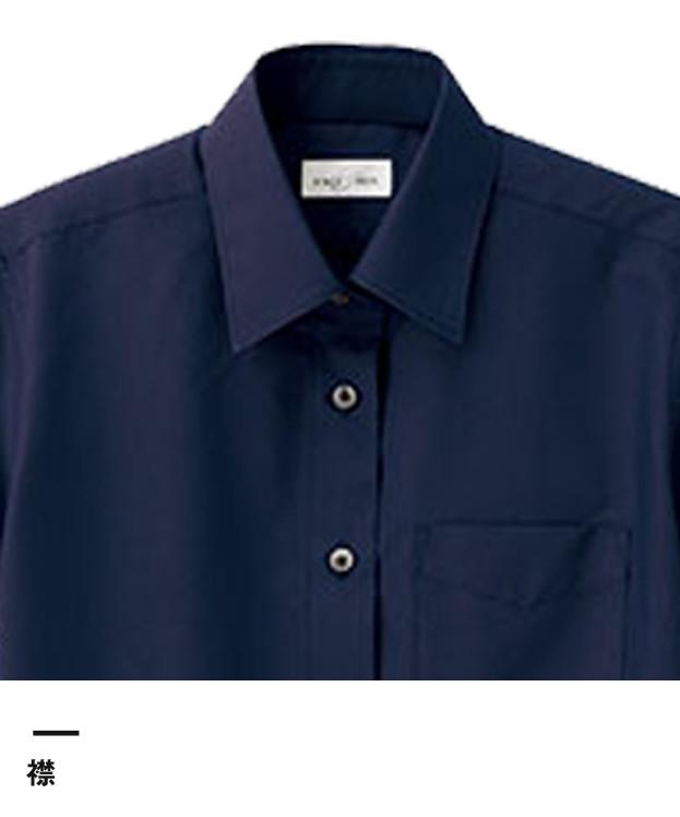 レディスレギュラーカラー半袖ブラウス(FB4036L)襟