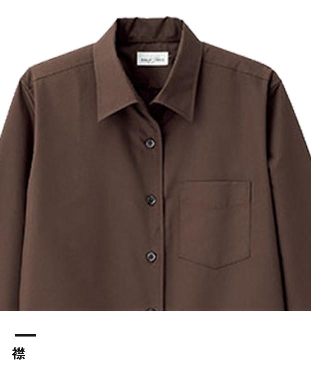 レディス開襟長袖ブラウス(FB4038L)襟