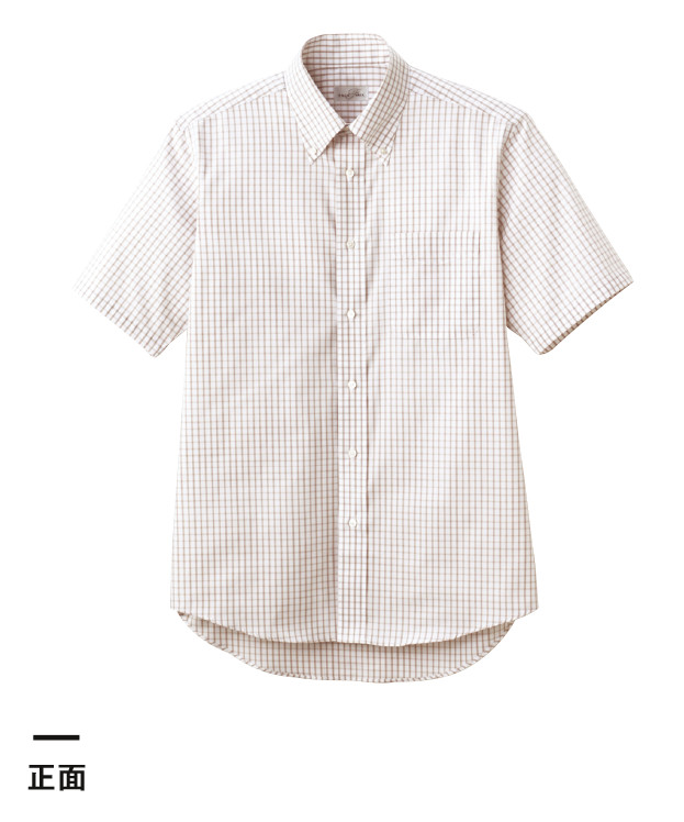 グラフチェック半袖シャツ(FB4507U)正面