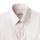 グラフチェック半袖シャツ(FB4507U)襟