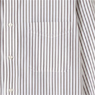 ストライプ長袖シャツ(FB4508U)胸ポケット