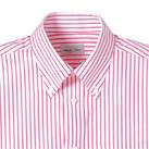 ストライプ半袖シャツ(FB4509U)襟