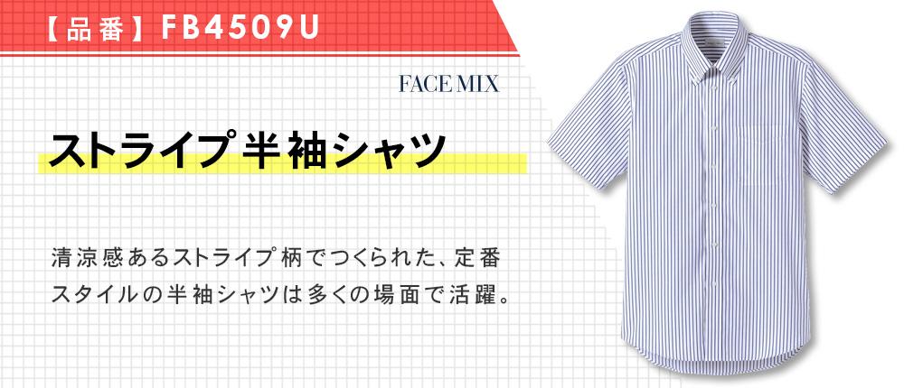 ストライプ半袖シャツ(FB4509U)9カラー・7サイズ