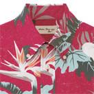 アロハシャツ(リーフ柄)(FB4518U)襟