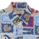アロハシャツ(パッチワーク柄)(FB4519U)襟