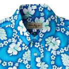 アロハシャツ(プチハイビスカス柄)(FB4521U)襟