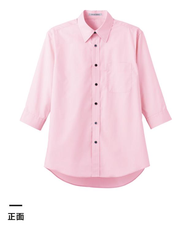 ブロードレギュラーカラー七分袖シャツ(FB4528U)正面