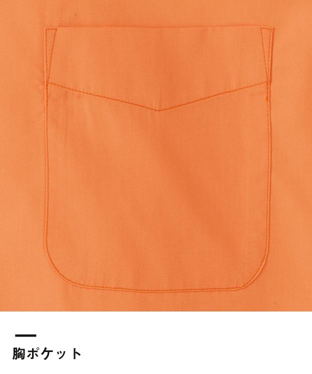 ブロードオープンカラー七分袖シャツ(FB4530U)胸ポケット