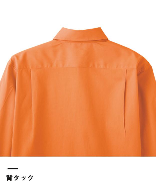 ブロードオープンカラー七分袖シャツ(FB4530U)背タック
