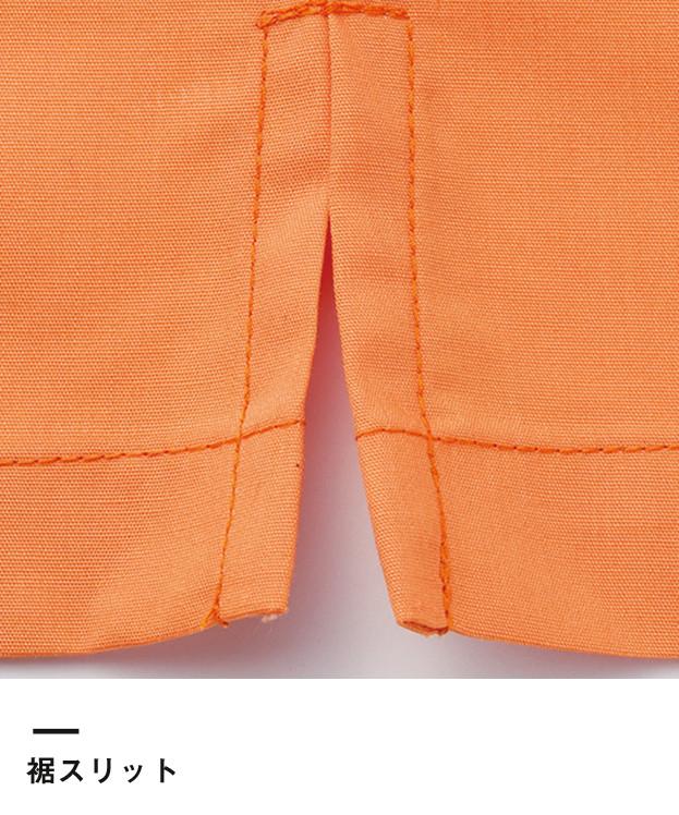 ブロードオープンカラー七分袖シャツ(FB4530U)裾スリット