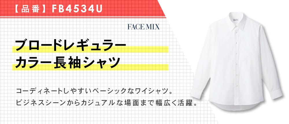 ブロードレギュラーカラー長袖シャツ(FB4534U)1カラー・9サイズ