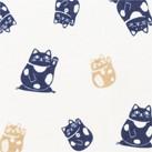 和衿プリントシャツ(招き猫)(FB4537U)生地