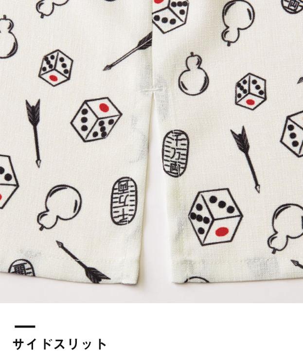 和衿プリントシャツ(縁起物)(FB4538U)サイドスリット