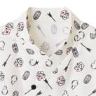 和衿プリントシャツ(縁起物)(FB4538U)着物風の重ね衿