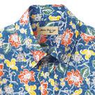 アロハシャツ(花柄)(FB4540U)襟