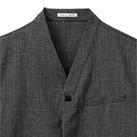 ユニセックス和シャツ(FB4543U)襟
