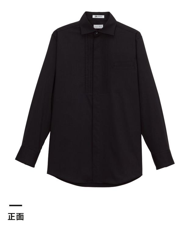 メンズピンタックワイドカラー長袖シャツ(FB5002M)正面