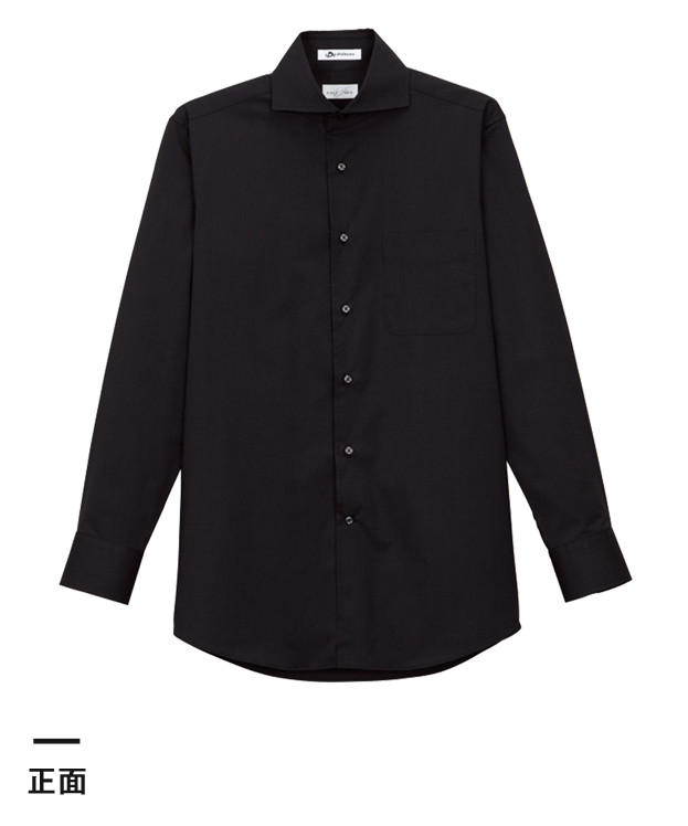 メンズホリゾンタルカラー長袖シャツ(FB5006M)正面