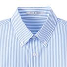 メンズストライプ調温長袖シャツ(FB5030M)襟