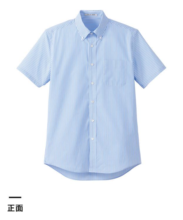 メンズストライプ調温半袖シャツ(FB5031M)正面