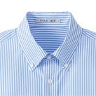 メンズストライプ調温半袖シャツ(FB5031M)襟