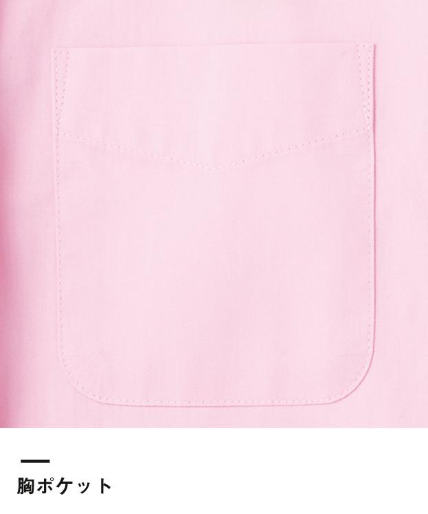メンズイタリアンカラー長袖シャツ(FB5033M)胸ポケット