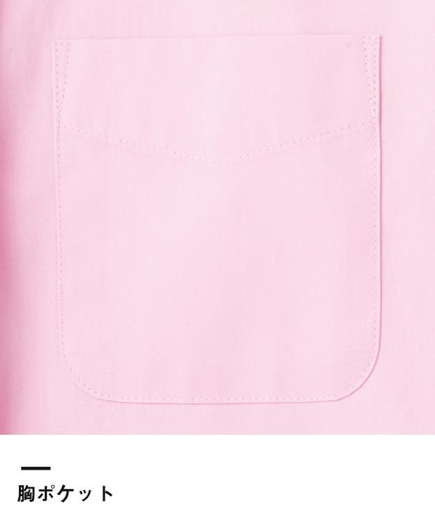 メンズイタリアンカラー七分袖シャツ(FB5034M)胸ポケット