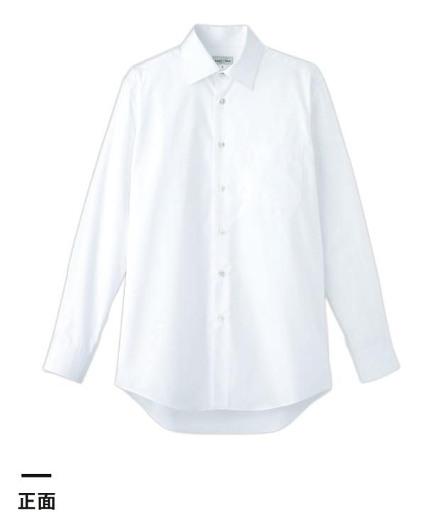 メンズストレッチ長袖シャツ(FB5037M)正面