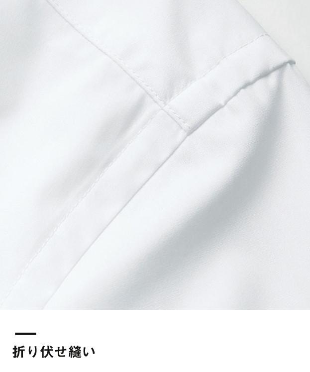 メンズストレッチ長袖シャツ(FB5037M)折り伏せ縫い