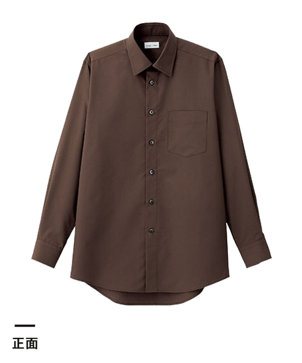 メンズレギュラーカラー長袖シャツ(FB5040M)正面