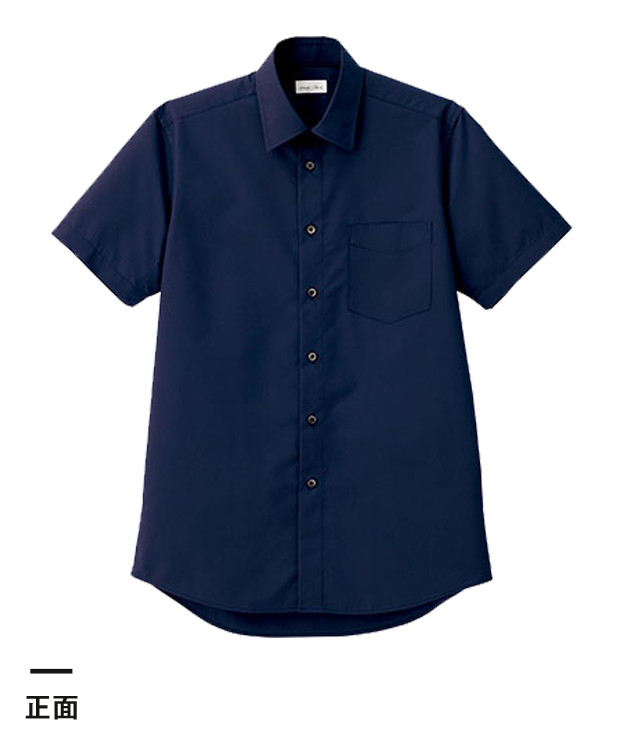 メンズレギュラーカラー半袖シャツ(FB5041M)正面