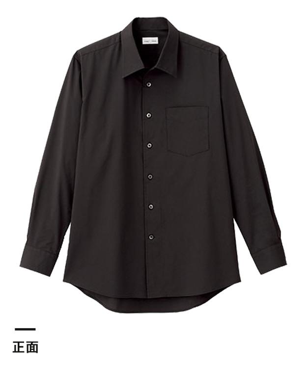 メンズ開襟長袖シャツ(FB5043M)正面