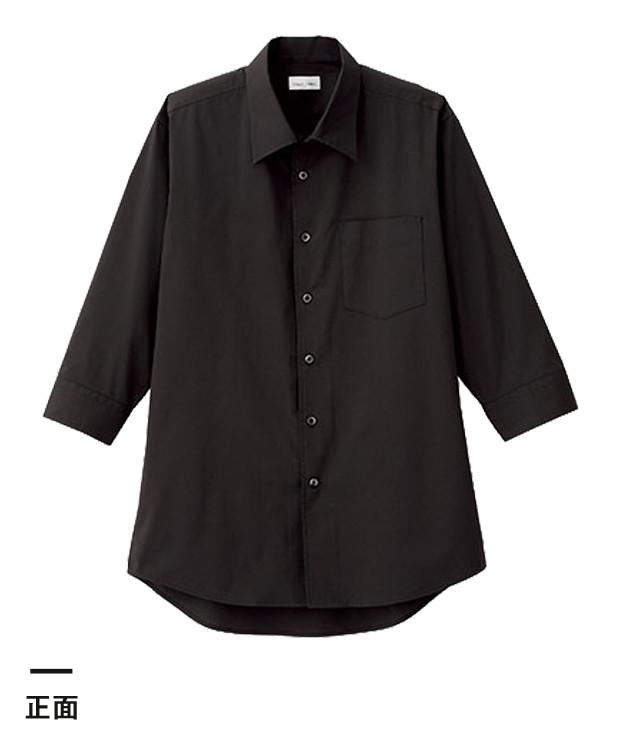 メンズ開襟七分袖シャツ(FB5044M)正面