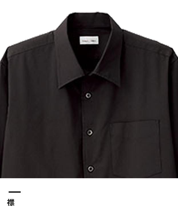 メンズ開襟七分袖シャツ(FB5044M)襟