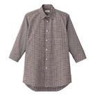 メンズセミワイドカラー七分袖シャツ(FB5048M)正面