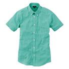 メンズ半袖ギンガムチェックシャツ(SA-3010)正面