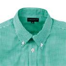 メンズ半袖ギンガムチェックシャツ(SA-3010)襟