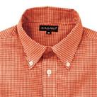 メンズ長袖ギンガムチェックシャツ(SA-3011)襟