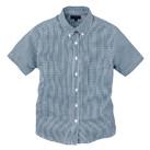 レディース半袖ギンガムチェックシャツ(SA-4010)正面