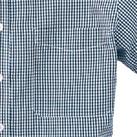 レディース半袖ギンガムチェックシャツ(SA-4010)胸ポケット