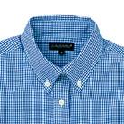 レディース長袖ギンガムチェックシャツ(SA-4011)襟